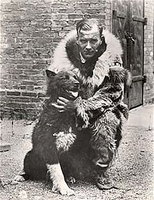 Gunnar Kaasen with sled dog Balto