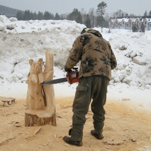win a chainsaw carving